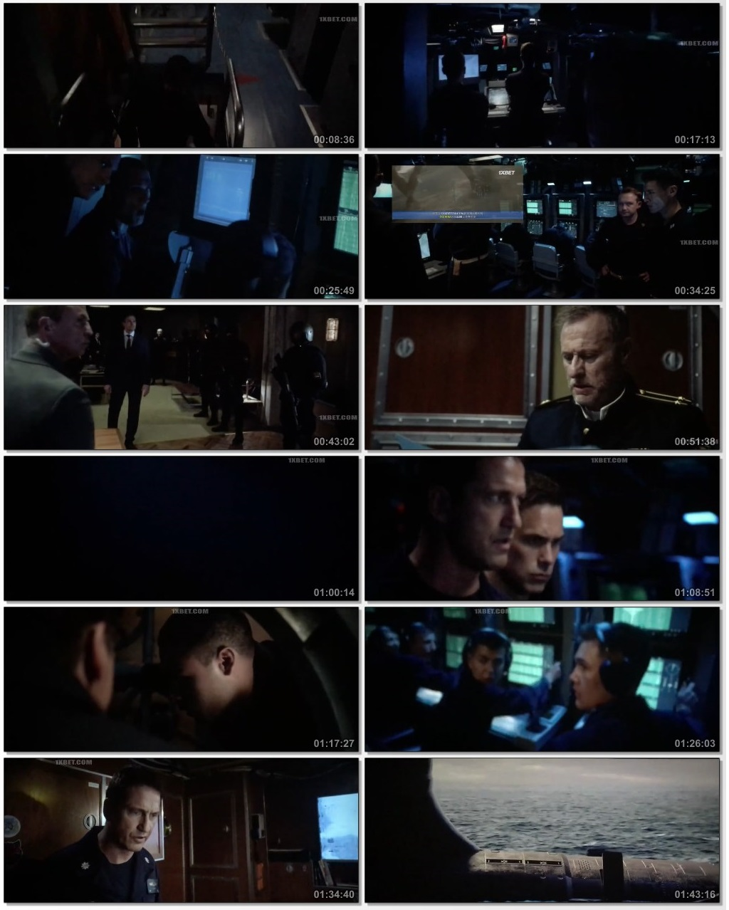 Screen Shot Of Hunter Killer 2018 Full Movie Download Free Watch Online 300MB