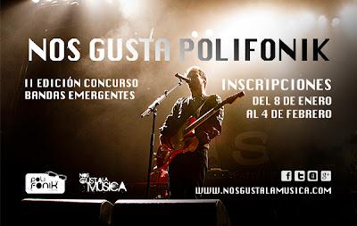 concurso para bandas NOS GUSTA POLIFONIK para bandas emergentes!