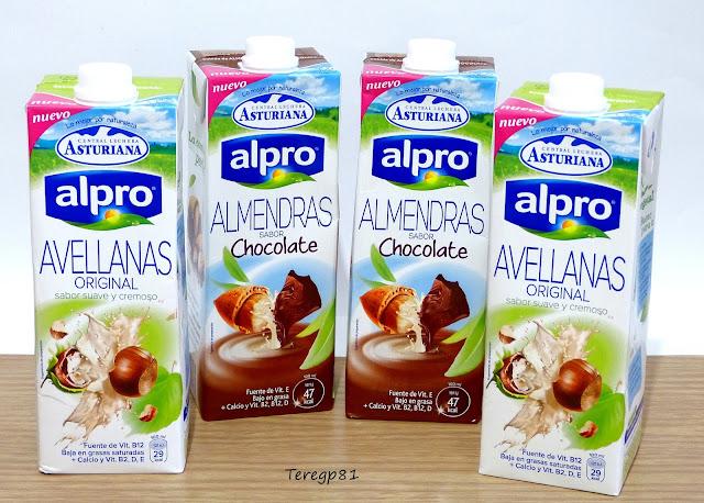 leche de almendras con chocolate y leche de avellanas