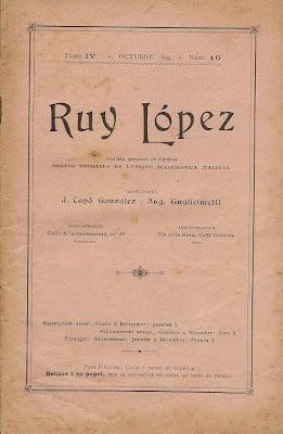 Uno de los últimos números de la etapa italiana de la revista Ruy López