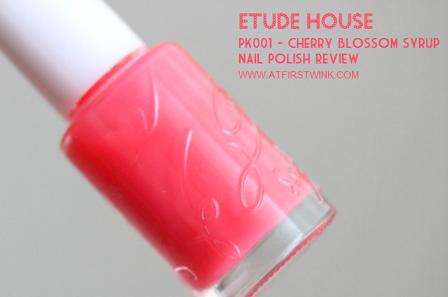 Etude House nail polish PK001 - Cherry Blossom syrup bottle