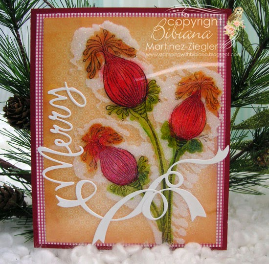 lavinia pod flowers acetate with glitter front card vertical