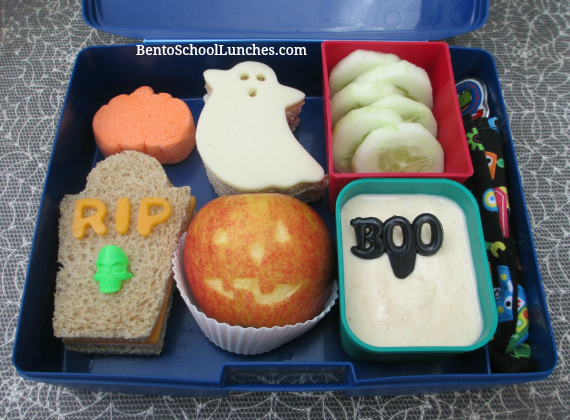 Ghostly graveyard Halloween bento lunch