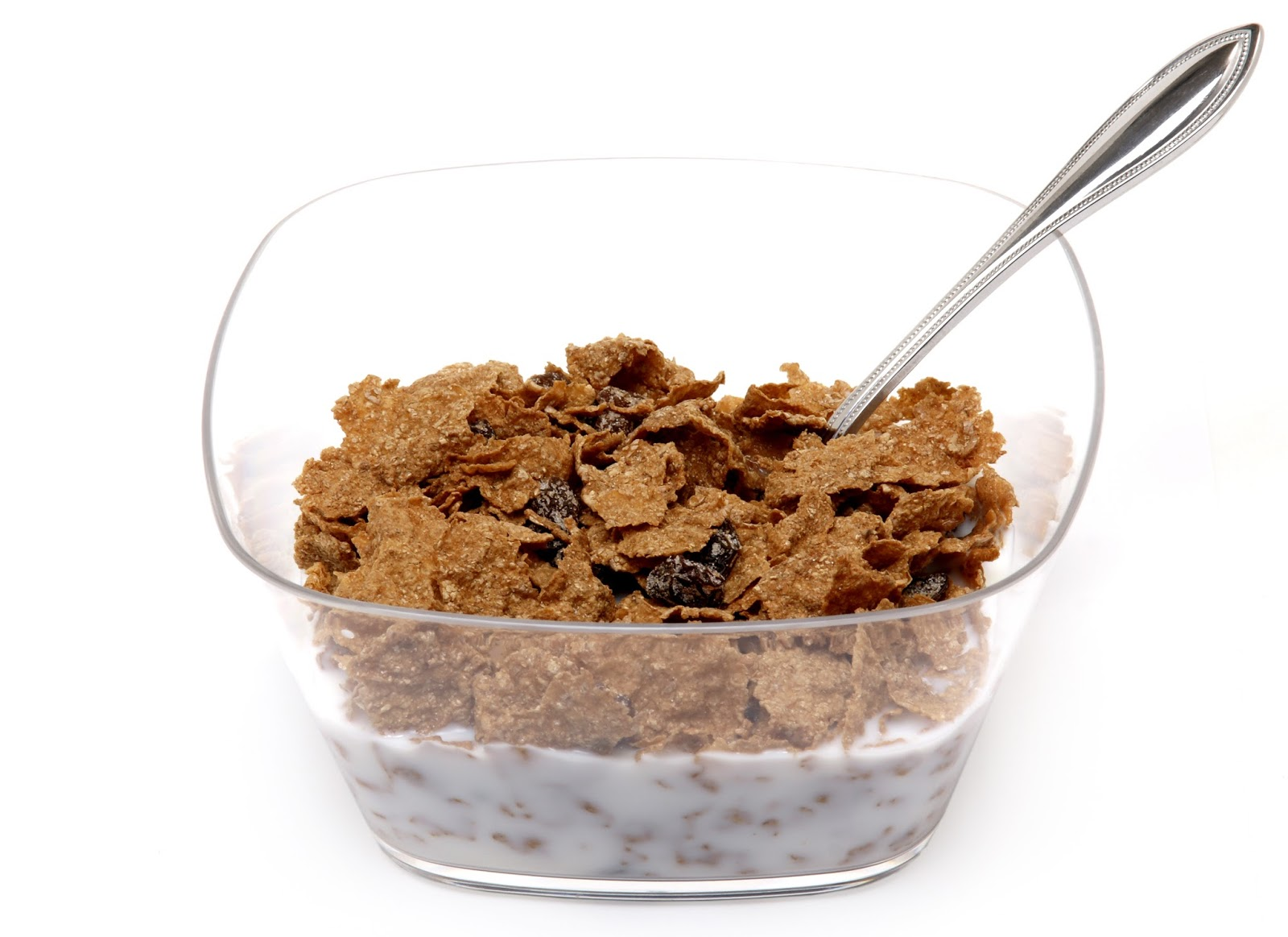 A bowl of bran cereal