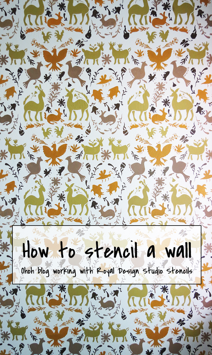How to stencil a wall with royal design studio ohoh blog how to stencil a wall with royal design studio amipublicfo Gallery
