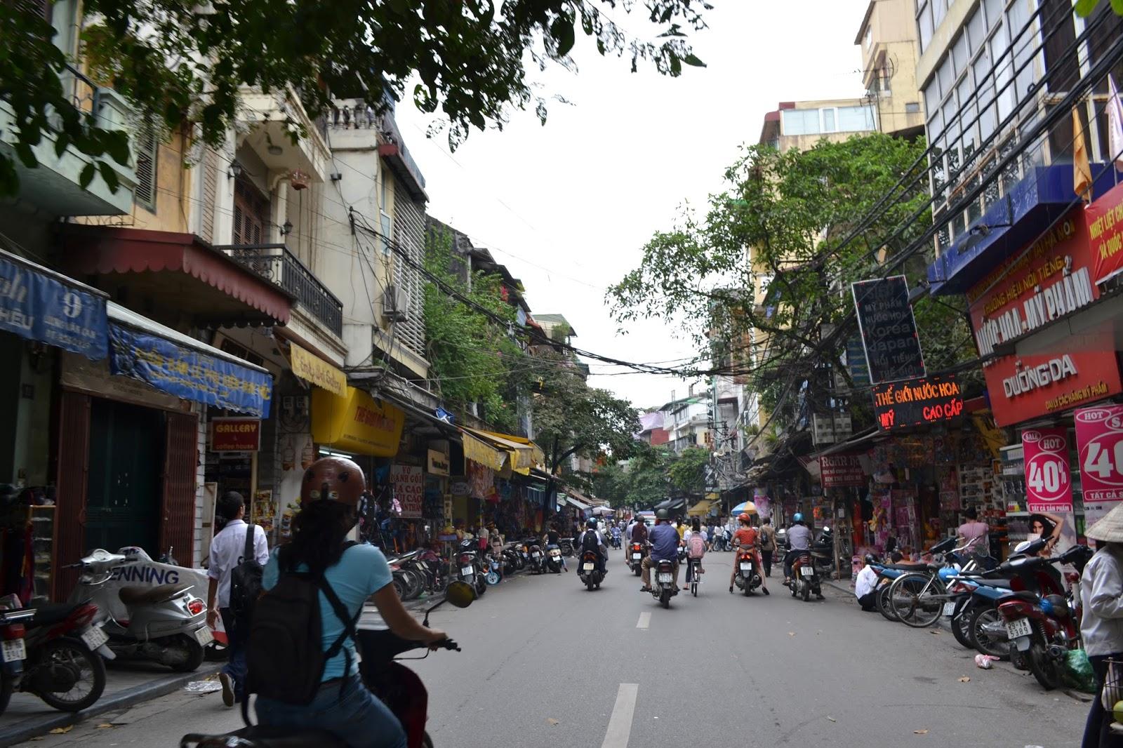Streets of old quarter hanoi