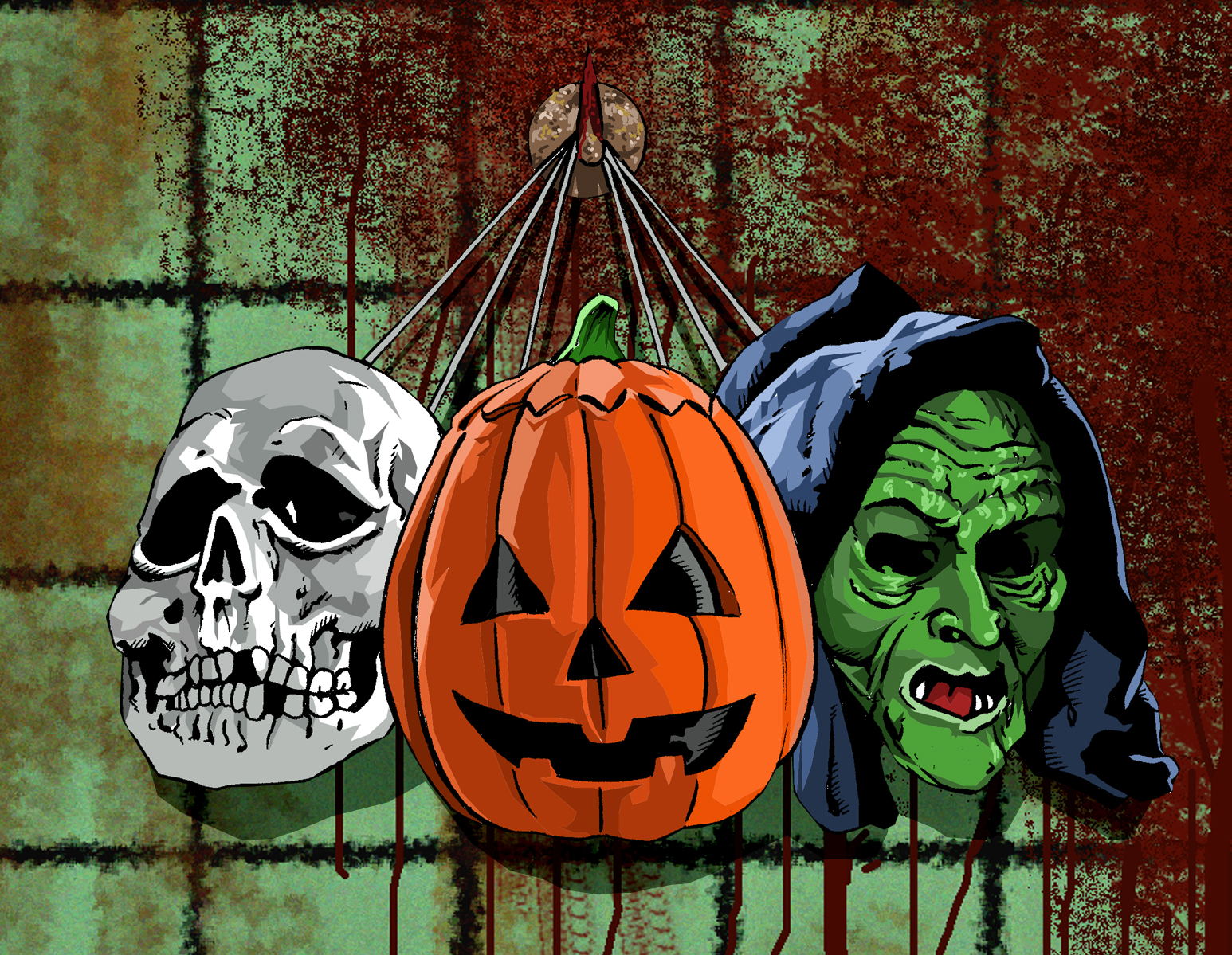 The Horrors of Halloween: HALLOWEEN III Silver Shamrock Masks ...