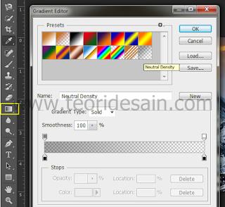 Pilih warna gradien hitam-transparant