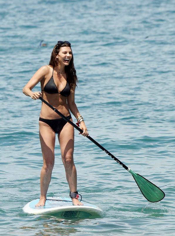 Ali Landry   Bikini Paddle Boarding in Hawaii