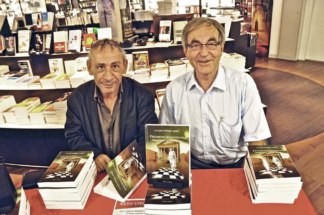 Philippe Lesenne et Luc Audy, auteurs de Fragments maçonniques