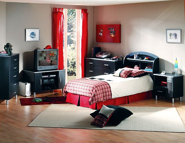 Awesome Red Boys Bedroom Ideas