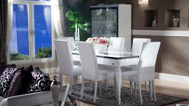 Stikbal yemek odas tak m modelleri dekorasyon modelleri for Salle a manger mobilia maroc