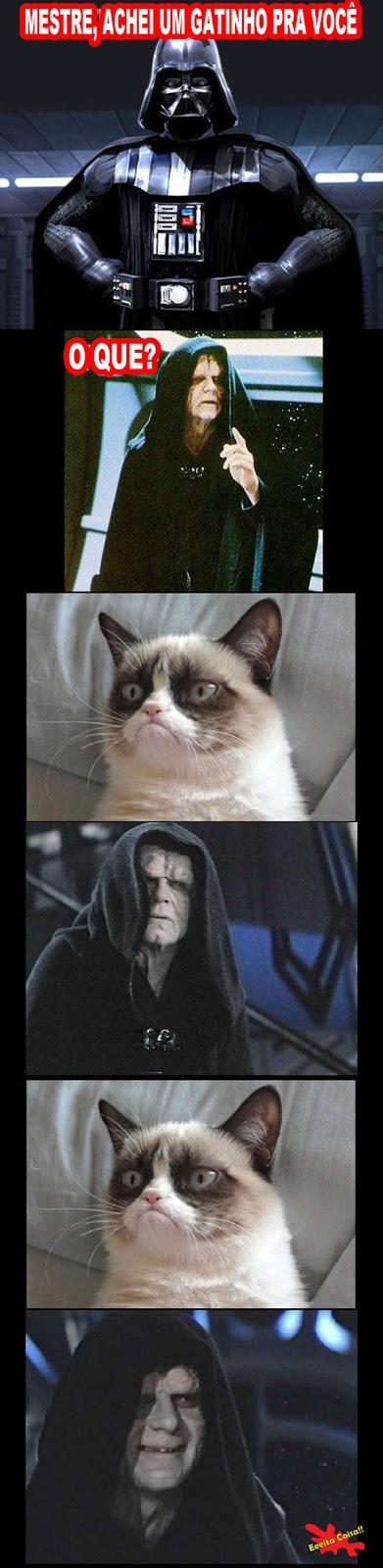 grumpy cat, vader, sidius, star wars, eeeita coisa