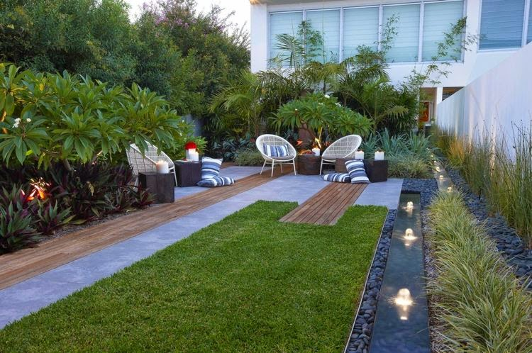 Modern garden with a cosy sitting area