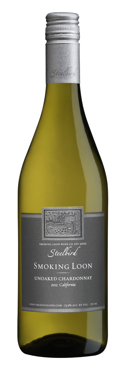 bottle of Smoking Loon Steelbird Chardonnay, 2012