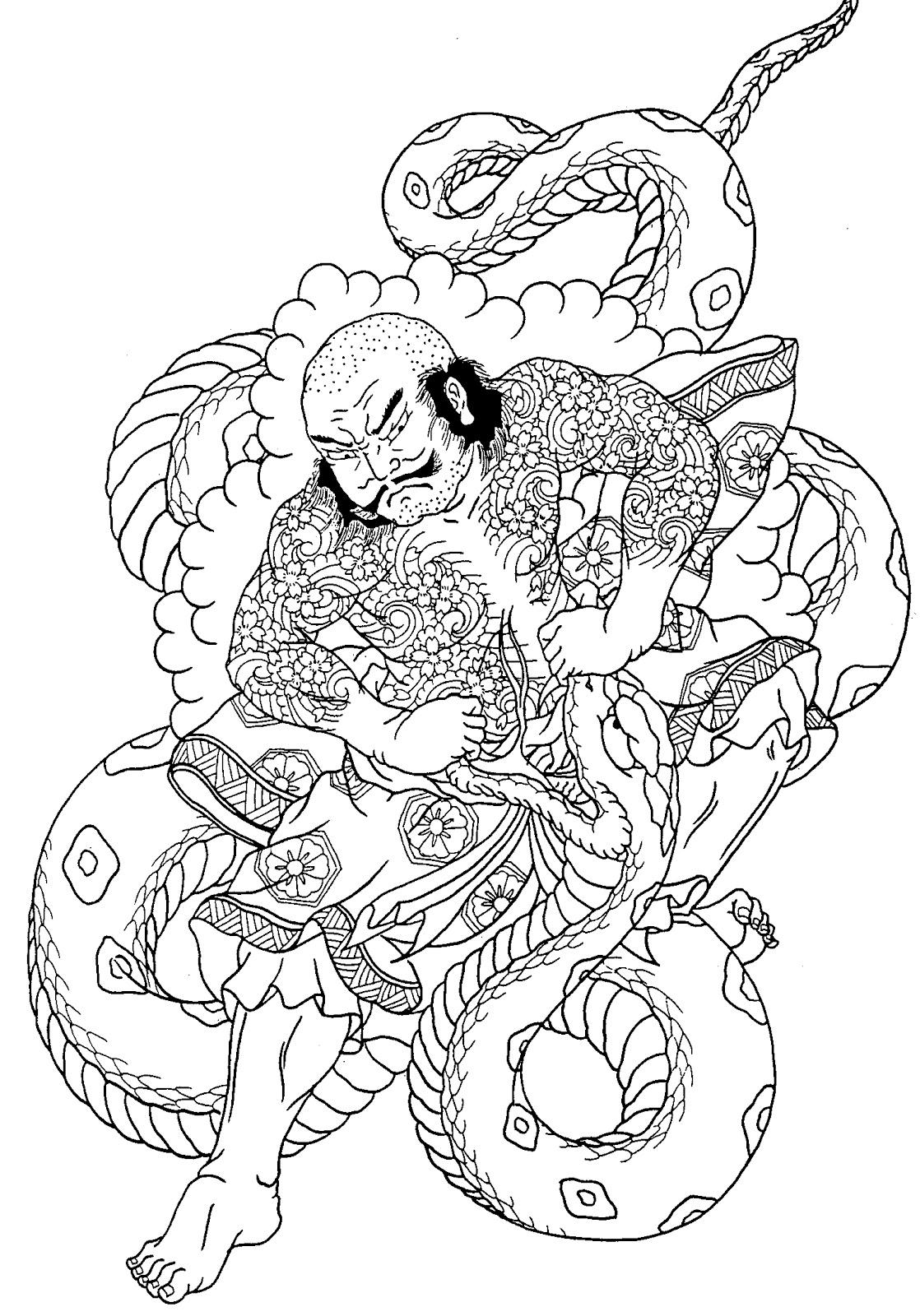 Every tattoo is here 20 good looking samurai tattoo flash - Dessin dragon japonais ...
