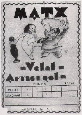 Cartel del encuentro ajedrecístico Velat-Armengol