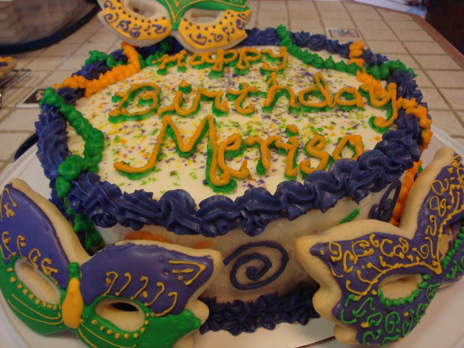 Sugar Cookies Dbl Layer Cake Mardi Gras Birthday All The Way