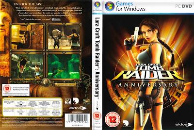 Jogo Lara Croft Tomb Raider Anniversary PC DVD Capa