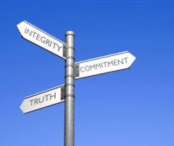ética integridade comprometimento verdade
