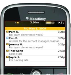 Cara Cepat Mencari Pesan dan Email Di BlackBerry