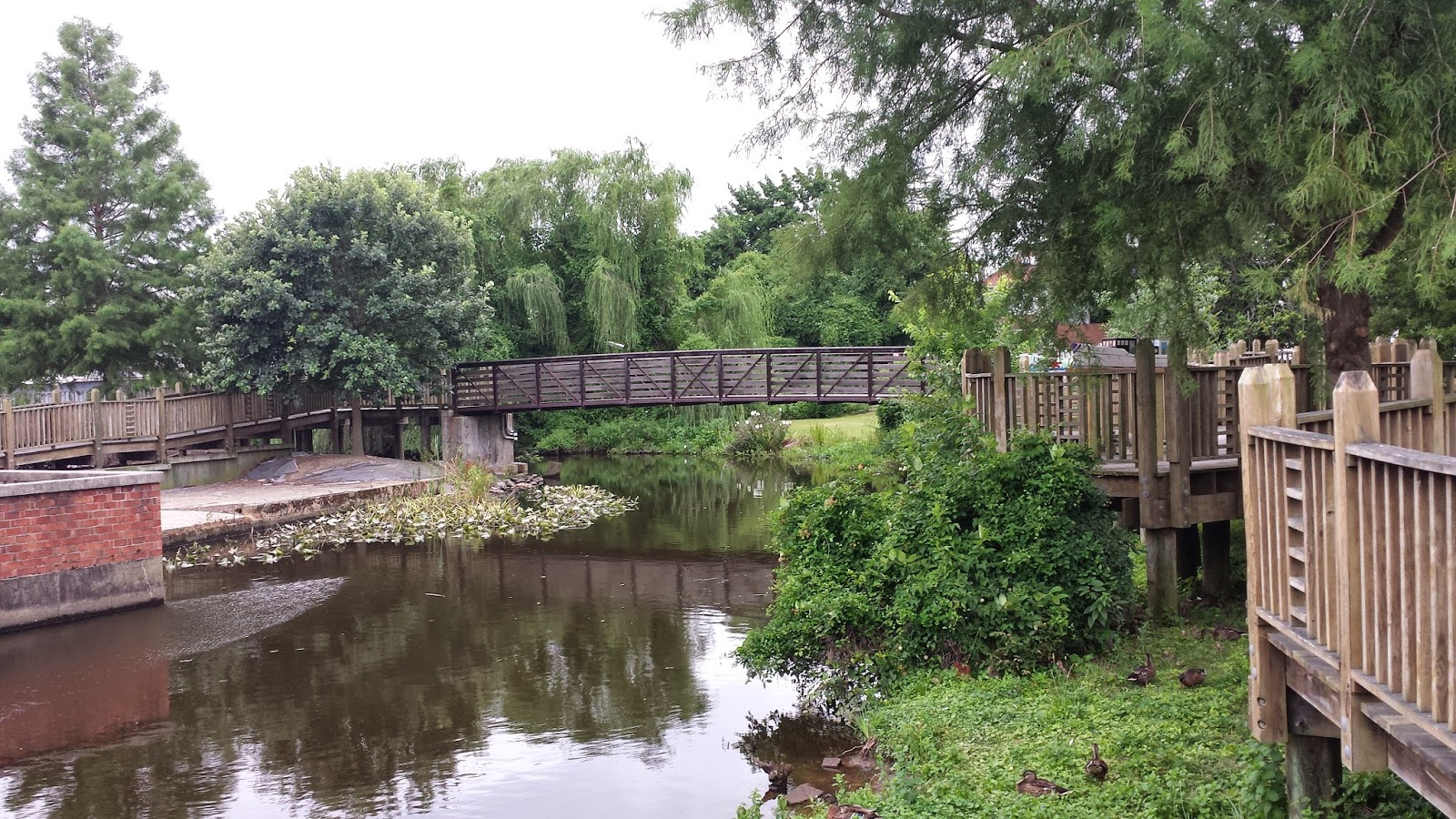 another bridge over the mispillion river and riverwalk