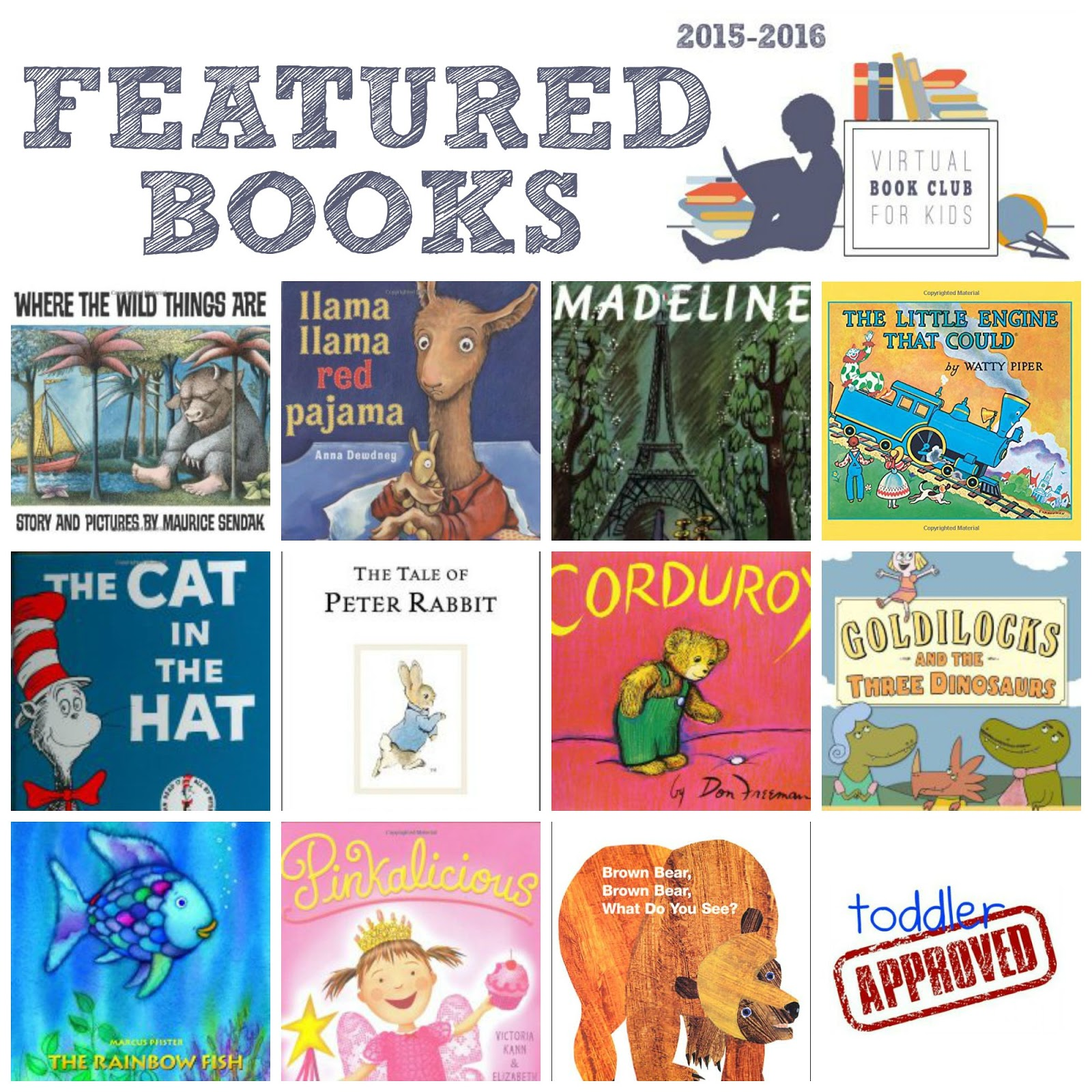Toddler Approved!: Come Join Virtual Book Club for Kids 2015-2016!