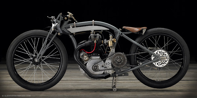 The Rudge 'bitsa', built by Jean-Claude Barrois.