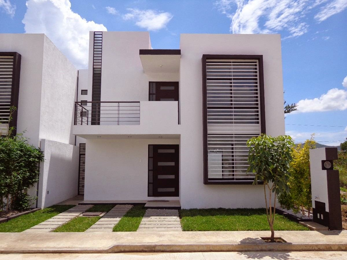Fachadas de casas modernas fachada de casa moderna en residencial los robles - Entrada de casas modernas ...