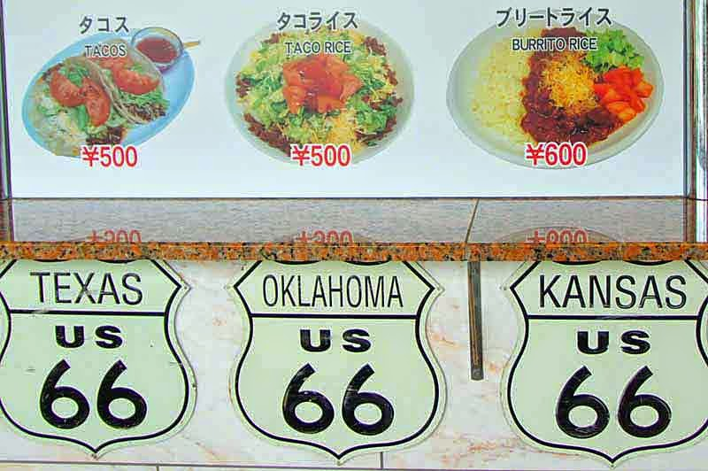 menu,Route 66, signs, food