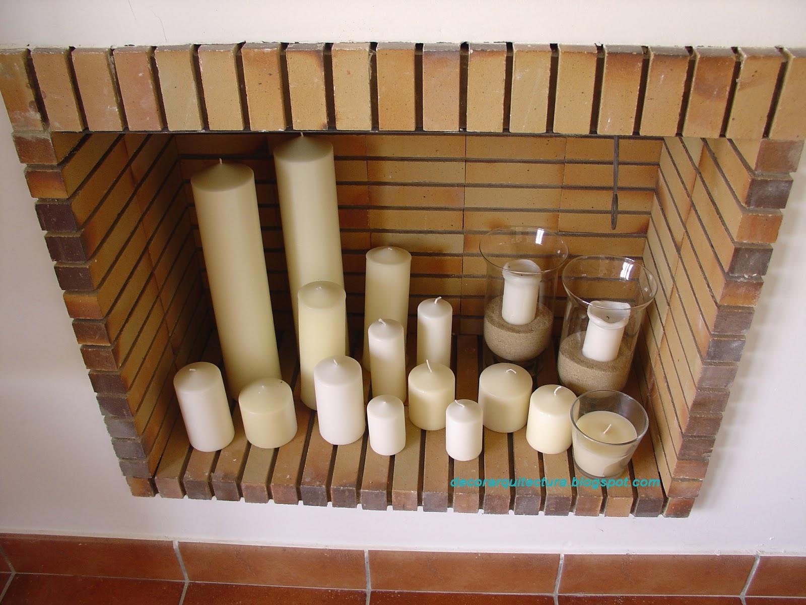 Decoraci n y arquitectura chimenea decorada decorating a - Calefaccion con velas ...