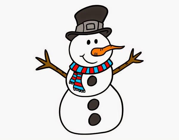 muñeco de nieve en dibujo