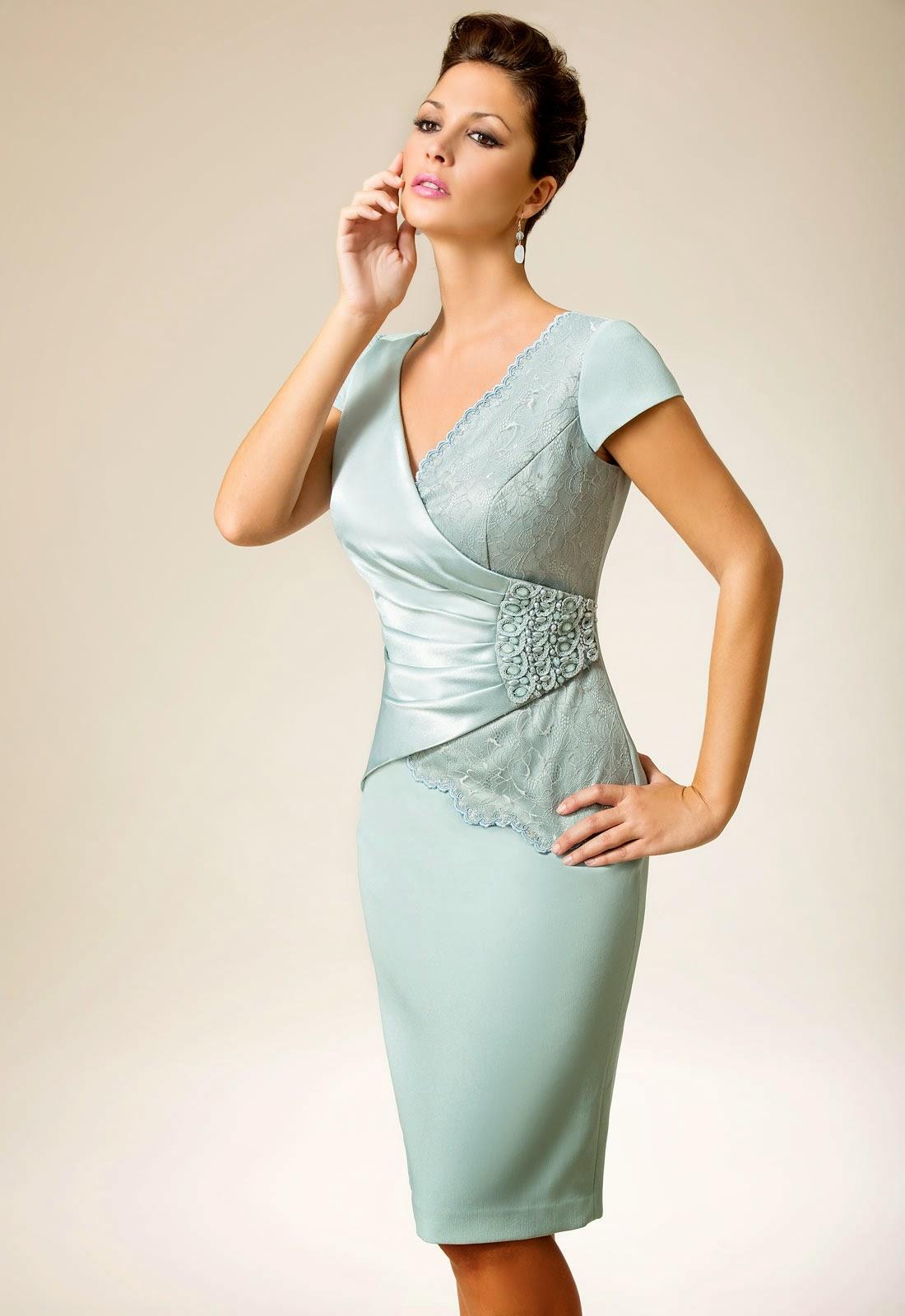 Brautmutter, Bräutigammutter Etuikleid, elegantes Kleid, Abendkleid.