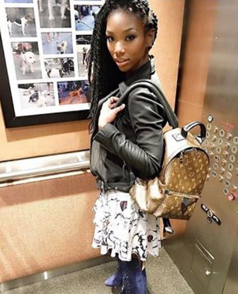 Brandy's Louis Vuitton and Rock Flare Fashion