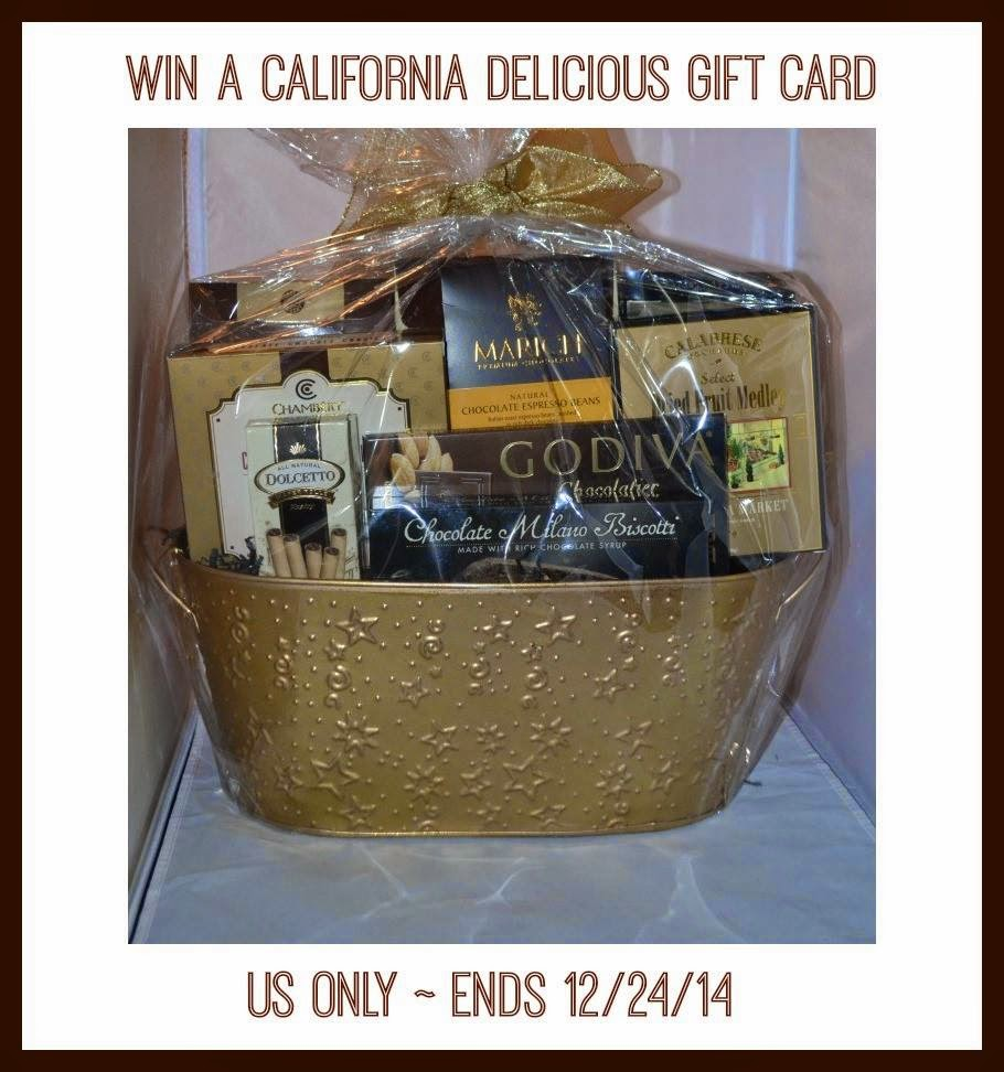 California Delicious Gift Basket Giveaway. Ends 12/24