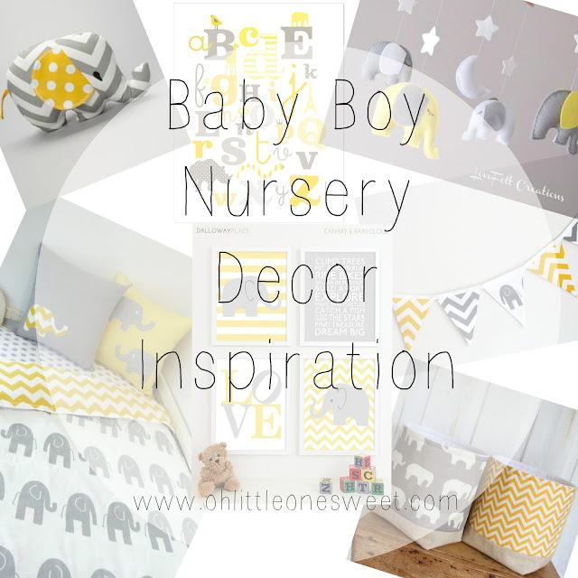 Baby Boy Nursery Decor Inspiration  Oh Little One Sweet