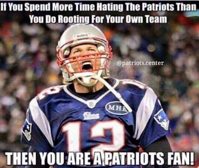 If you spend more time hating the patriots... #Patriots #patriotsfans #brady #tombrady