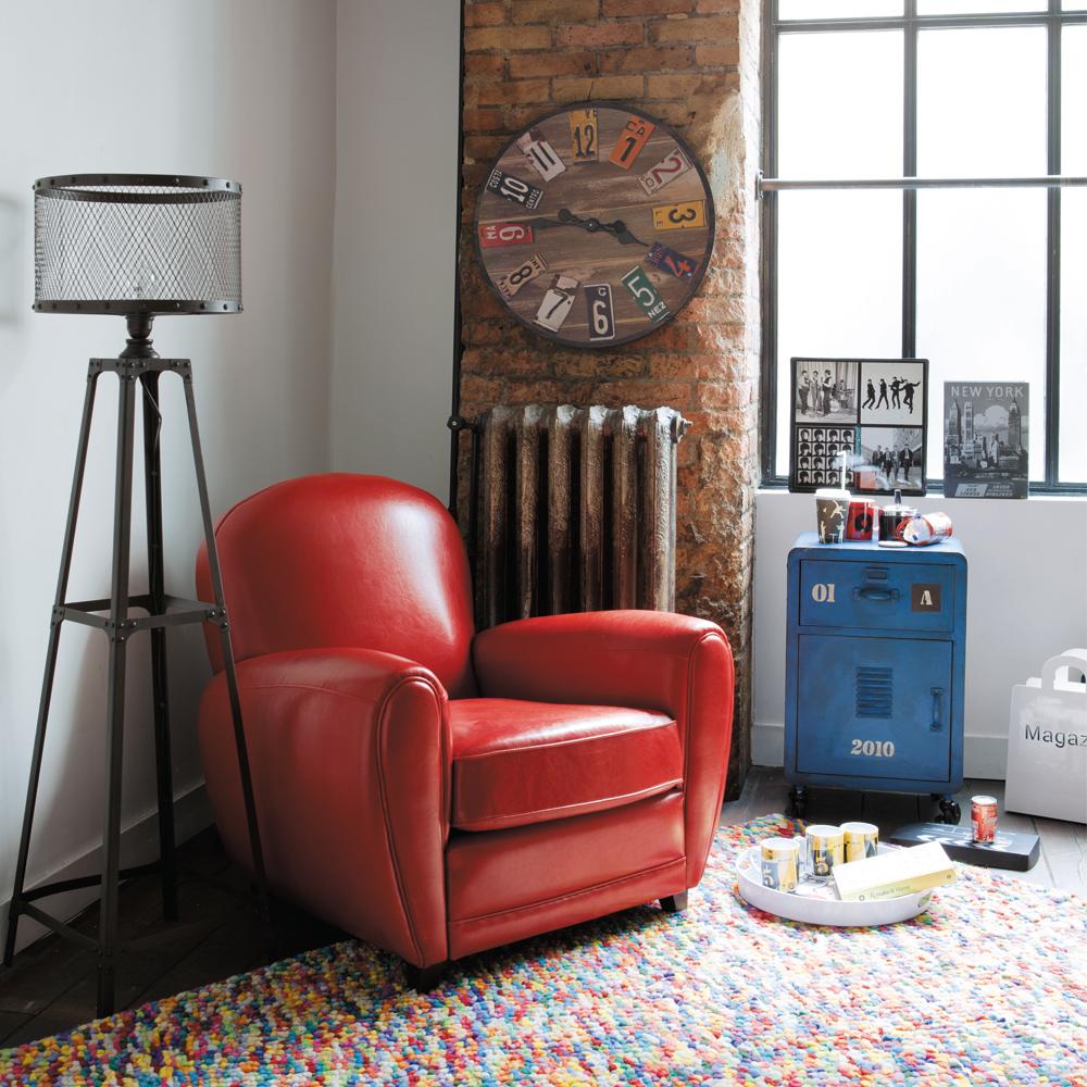 Rocco en mi sofa eso lo quiero yo un piso de estilo for Reloj pared estilo industrial