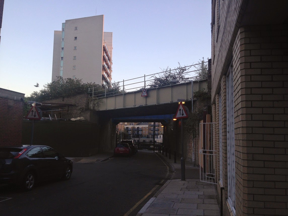 Disused railway bridge on the former London and Blackwall Railway, Limehouse