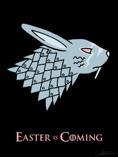 Game of Thrones Easter is Coming rabbit family crest