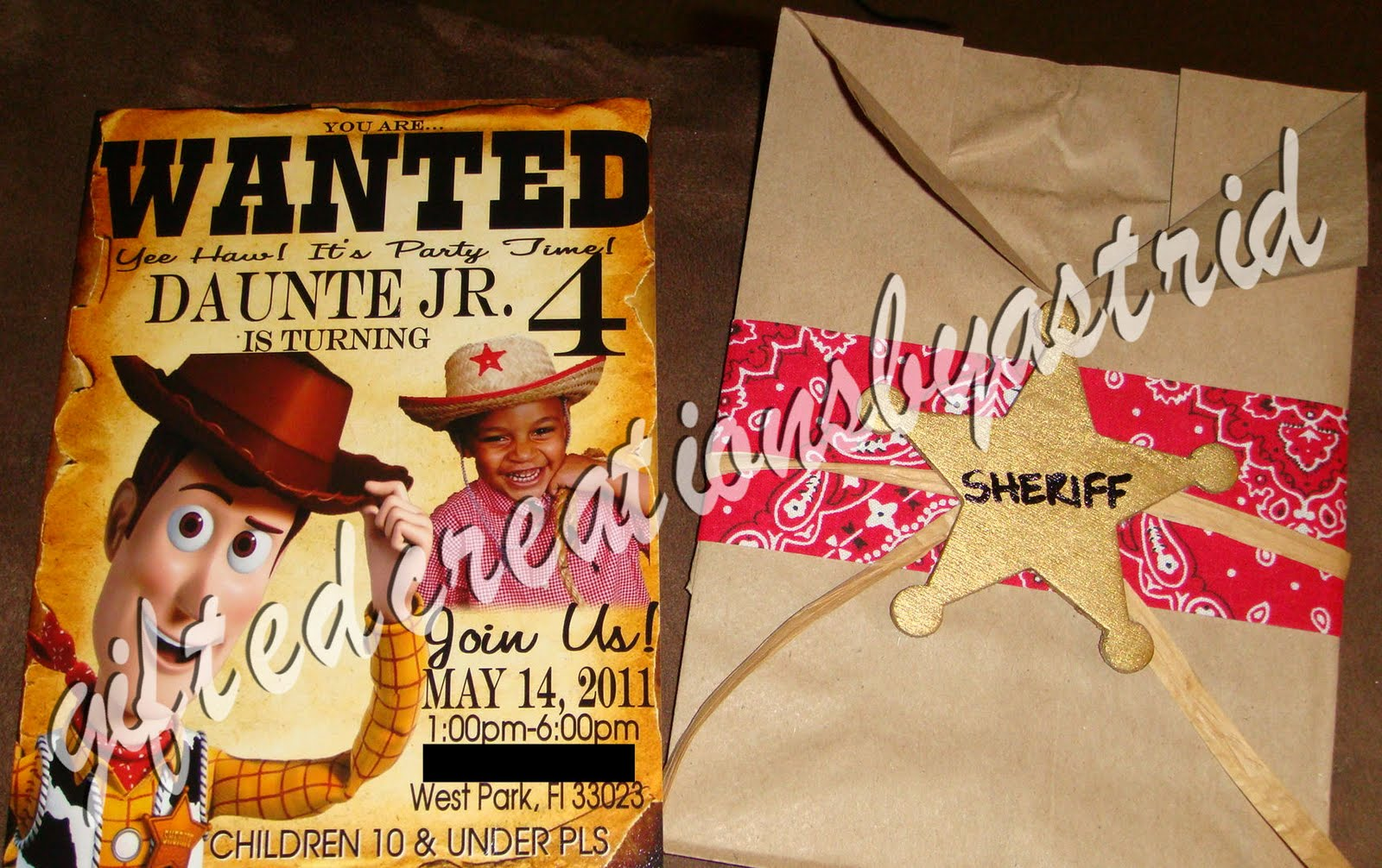 Gifted Creations by Astrid: Custom Woody Invitations