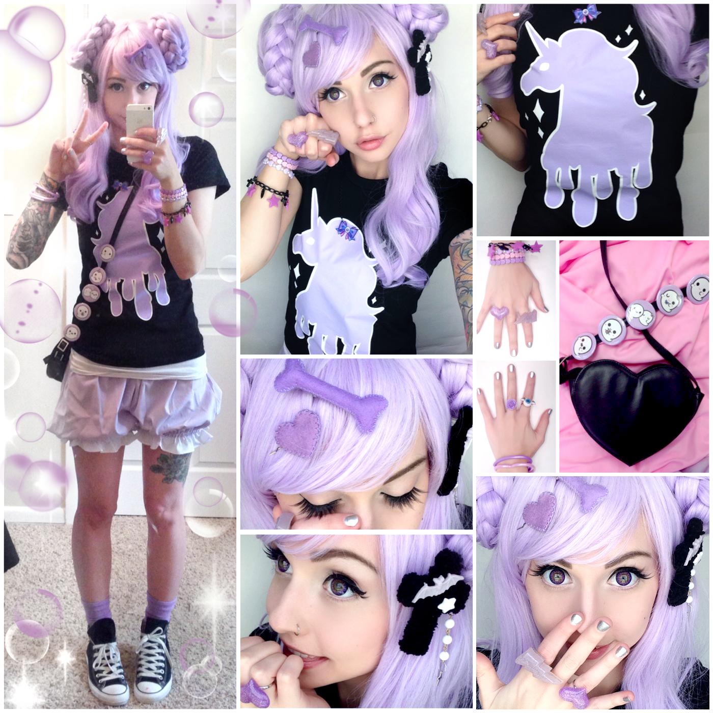 Alexa S Style Blog Dripping Unicorn Pastel Goth Daily