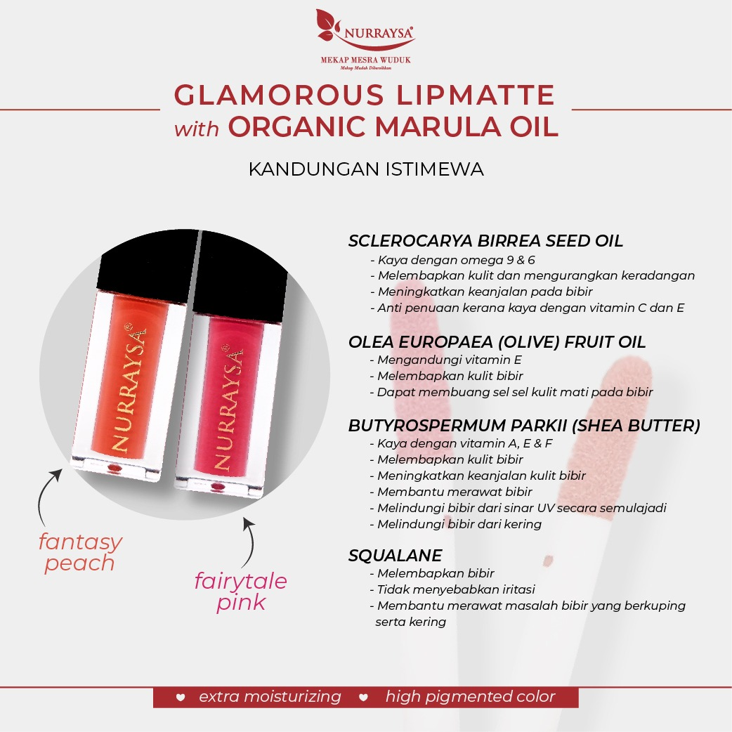 GLAMOROUS LIPMATTE WITH ORGANIC MARULA OIL