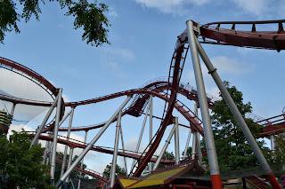 Roller coaster at trivoli garden