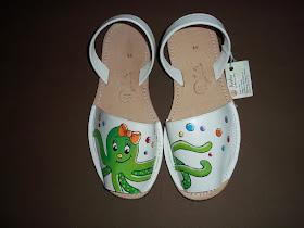 Calzado infantil pintado