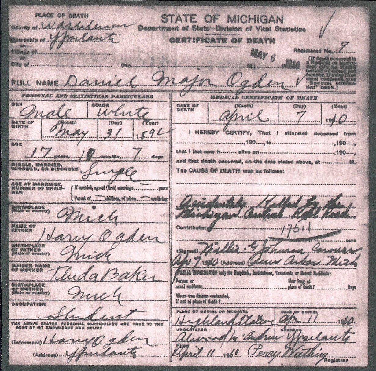 Iowa Divorce Records: Ford County Death Records