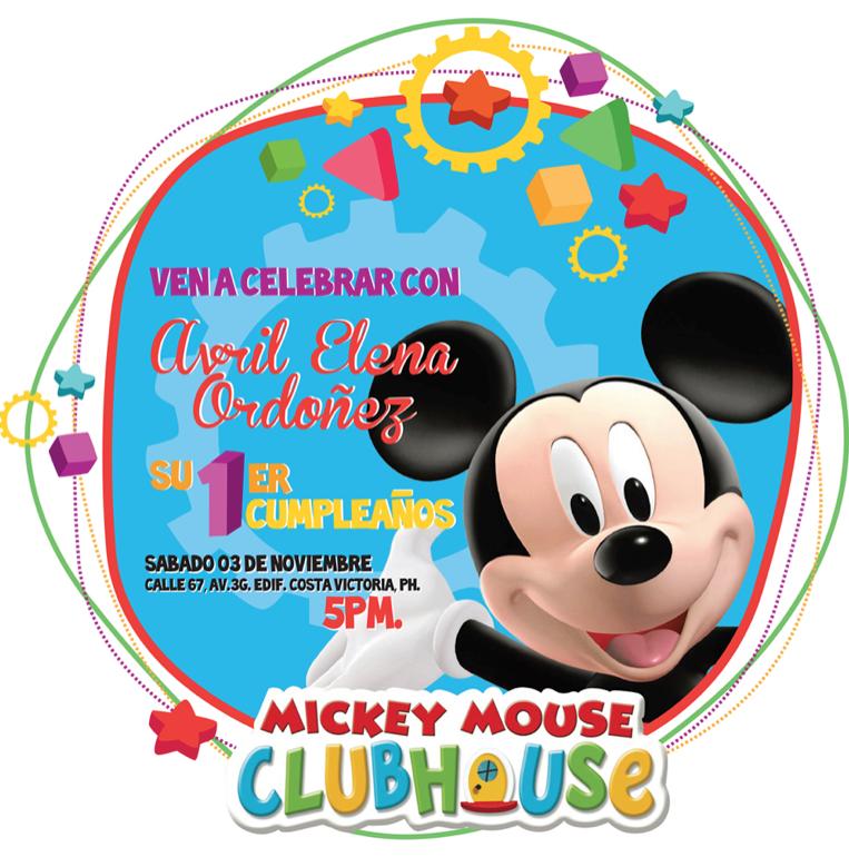 moimoi diseño: Invitación Cumpleaños Mickey Mouse ClubHouse