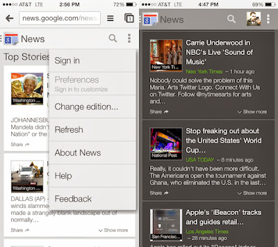 Google revamps mobile News site with new design improved navigation and more