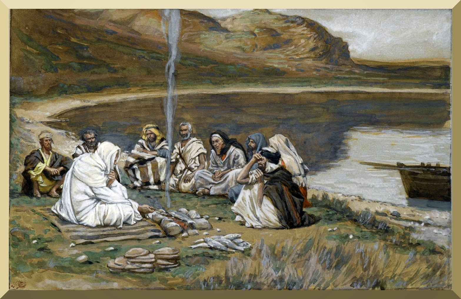 """Meal of Our Lord and the Apostles"" -- by James Tissot.jpg"