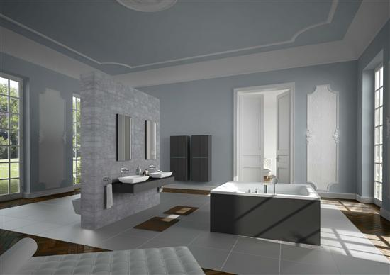Baños Minimalistas Elegantes:de baño minimalista con cerámicas de sanitarios y bañeras elegantes